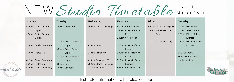 Studio Timetable v.2