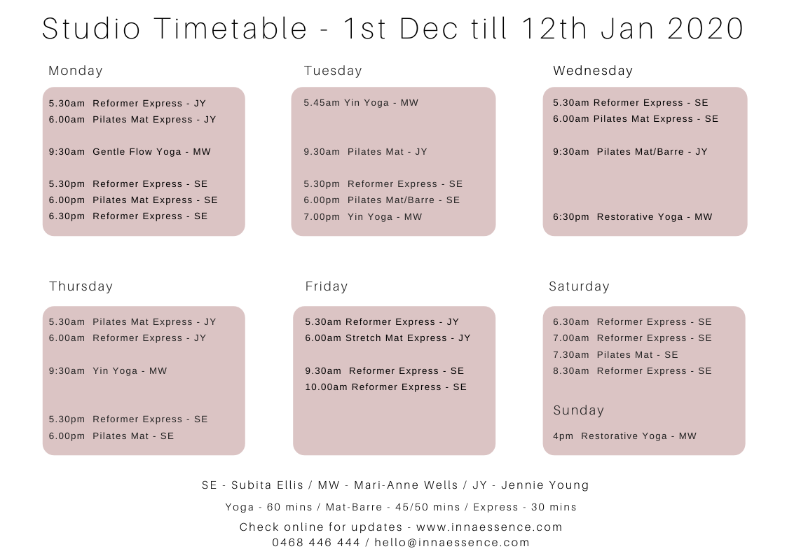 Inna-Essence-Underwood-Xmas-Studio-Timetable-Landscape-flyer