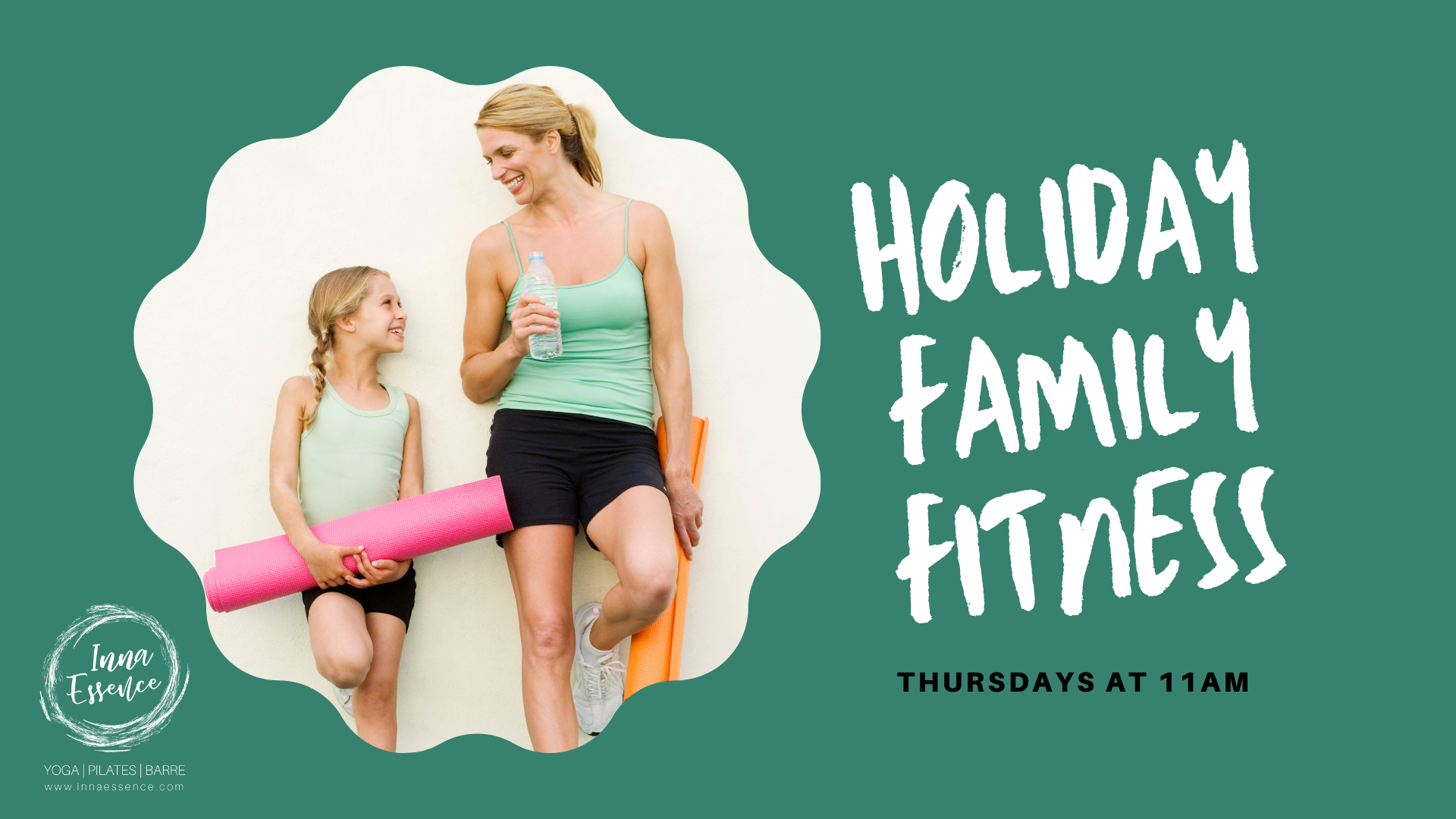 Inna Essence Holiday Family Fitness classes Underwood