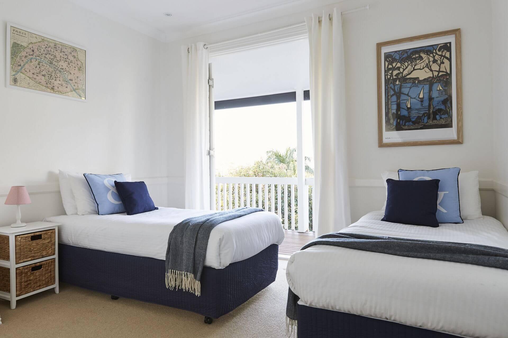 Twin single accommodation at Hamptons